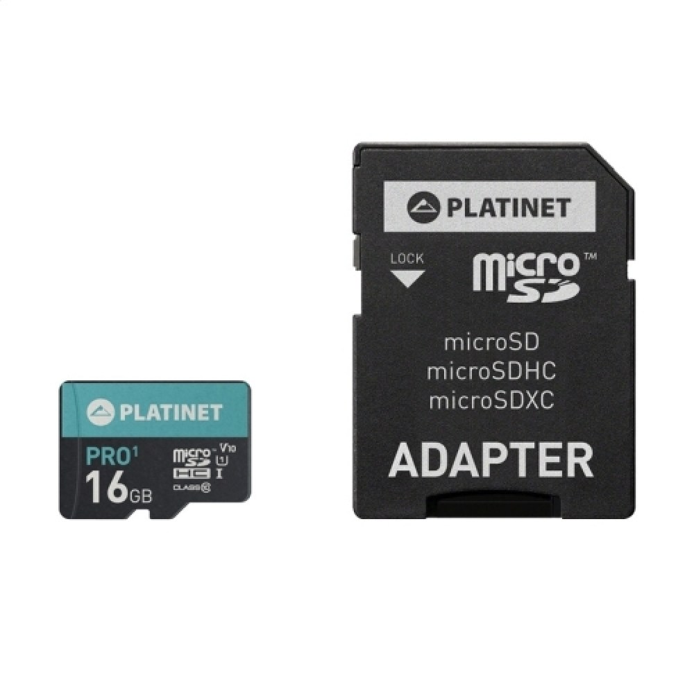 Micro Sd Karte 16gb.Platinet Microsdhc 16gb Class 10 Uhs 1 Pro Adapter Sd