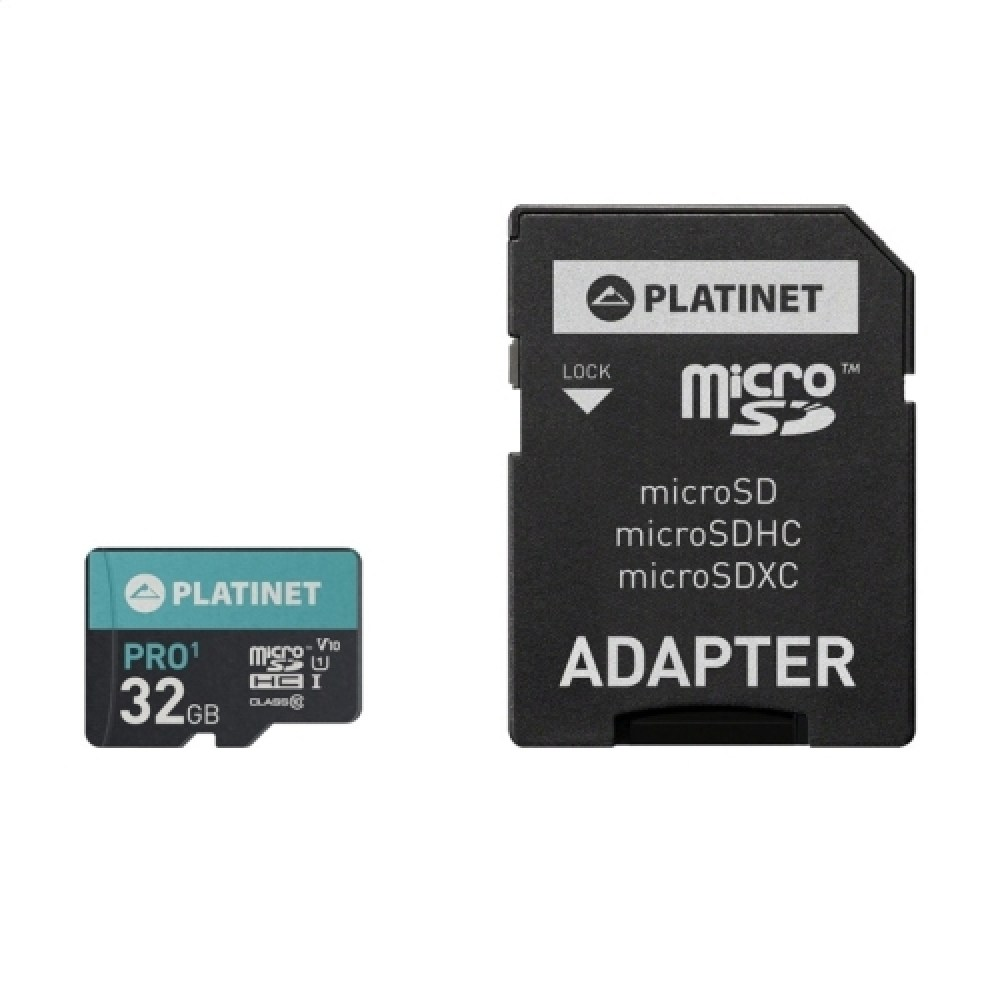 Micro Sd Karte 32gb.Platinet Microsdhc 32gb Class 10 Uhs 1 Pro Adapter Sd